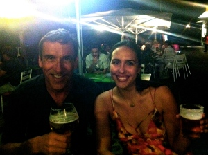 My father and I, doing what we do best, sampling beer in Cadaques, Spain!